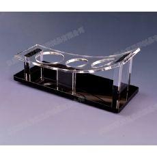 亚克力圆口酒杯架定做丨酒店KTV酒杯架丨有机玻璃酒杯架