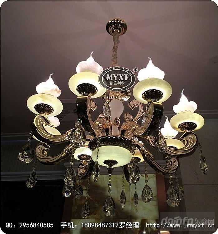 玉石水晶吊灯,玉石欧式吊灯