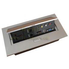 多功能升降式桌面插座 会议桌桌面多媒体插座线盒