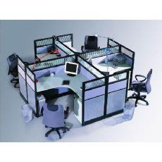 新乡屏风办公桌厂家,组合式办公家具定做