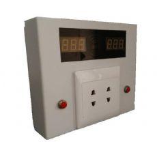 两路刷卡充电插座盒-小区企业车棚车库用电动车充电管理站