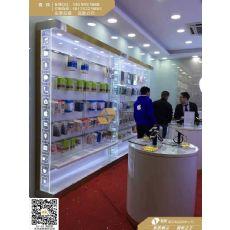 苹果镀金手机配件展示柜台
