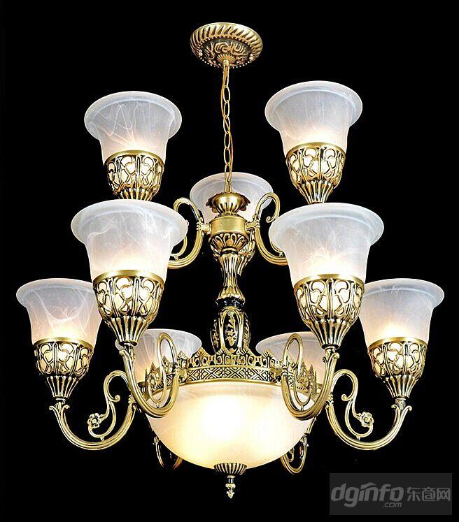 玻璃罩子欧式灯,树脂欧美经典吊灯铁艺架子欧式古典