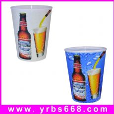 厂家供应啤酒广告杯 塑料pp杯 变色塑料杯