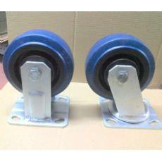重型蓝色弹力橡胶脚轮