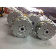 供应152mm重型麦克纳姆轮6寸45度万向轮工业级NM152S