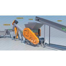 LDPE薄膜回收破碎清洗造粒生产线【柯达】