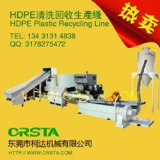 HDPE塑料回收生产流水线,牛奶瓶回收破碎清洗生产线