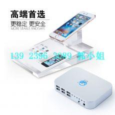 ipd苹果手机防盗器一拖六路手机报警器iphon原装充电防盗展示架