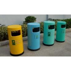 玻璃钢圆形垃圾桶,手糊玻璃钢环保垃圾箱