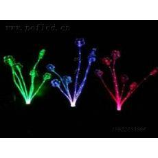现货LED太阳能灯太阳能七彩变化光纤灯草坪插地灯圣诞灯庭