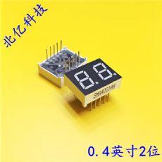 0.4英寸双位数码管显示器 二位共阴绿光七段管 2位共阳动态显示器厂家SMA4021AG