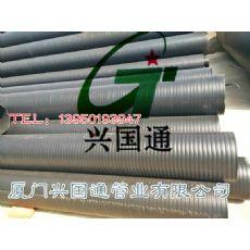 翔安HDPE双平壁钢塑复合管 高品质福建HDPE双平壁缠绕结构塑钢复合管批发