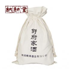 棉布白酒高端定制  织耕堂厂家生产绒布红酒袋