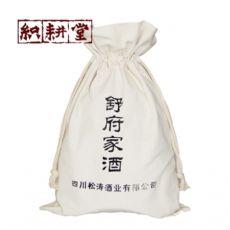 郑州棉布白酒包装袋厂家织耕堂 红酒绒布包装袋定制