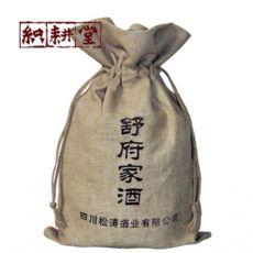郑州织耕堂定做白酒礼品袋  创意设计红酒绒布袋加工
