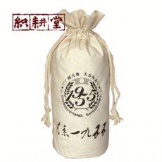 郑州织耕堂供应抽绳束口酒布袋  高端红酒包装袋来图订做