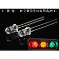 交通信号灯超高亮度LED发光二极管绿光灯珠