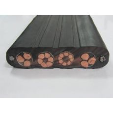 柔软型卷筒用行车扁电缆 YVFB 3*25mm2耐磨耐油 耐寒耐高温移动行车扁电缆