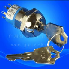 JK216电源锁 3档钥匙开关 4档电子锁 5档电气锁  选择开关锁