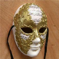 威尼斯圆脸手绘面具环保面具