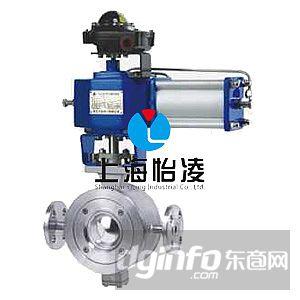阀门 球阀 气动v型调节保温球阀    8,气动执行机构采用活塞式气缸及图片