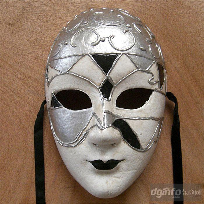 尼斯风格全脸面具手绘环保面具|东商网