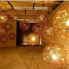 铭星灯饰吊灯厂家批发Tom Dixon Etch Web创意艺术钻石球不锈钢现代简约吊灯(已。
