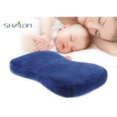 淳梦婴儿枕头防偏头定型枕0-3岁宝宝记忆枕矫正睡枕加长纯棉忱头