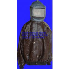皮质帆布喷砂服,加厚耐磨帆布喷砂防护服,开放式喷砂服