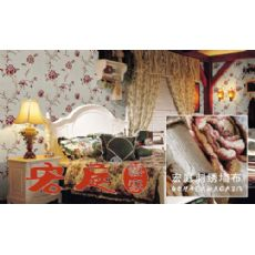 绣花壁布专业供应商、刺绣墙布、宏庭!