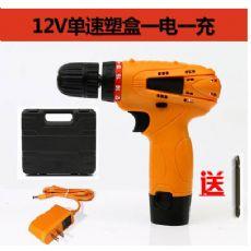 12V单速塑盒一电一充手电钻、电钻、手钻包邮