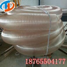 机械除尘设备配套钢丝PU风管耐磨PU钢丝管
