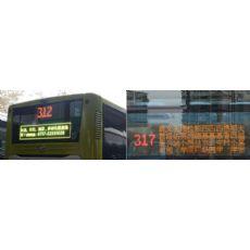 公交车led线路牌 led广告显示屏 带左右转弯刹车功能