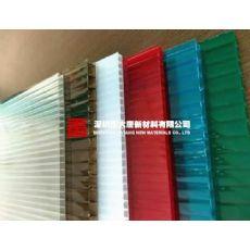 武漢黃石市陽光板廠家訂做銷售 茶色湖藍草綠空心陽光板批發裁切零售 專業雨棚車棚陽光板
