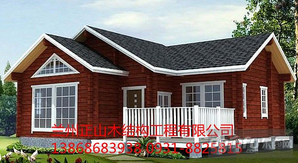 防腐木木屋--兰州正山木业--厂家定做 装配式木屋安装图片