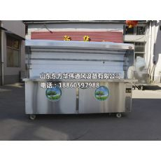 厂家直销山东无烟烧烤车 多功能炒菜式烧烤车