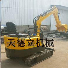现货直销TDLW-10小型挖掘机农用座驾挖土机履带式1t小挖机