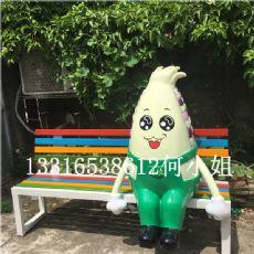 美陈装饰休闲椅玻璃钢玉米卡通雕塑