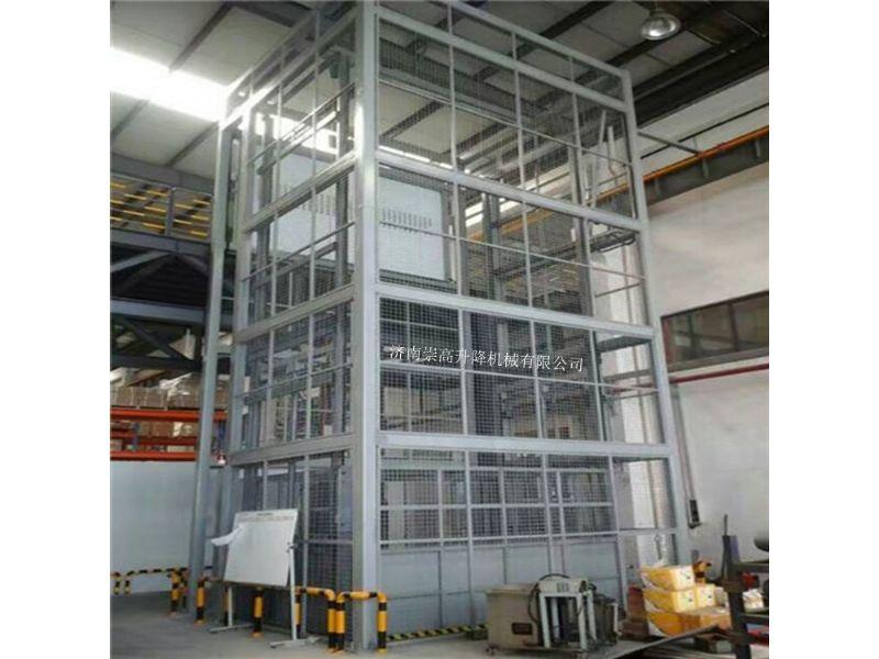 湖北武穴导轨升降货梯承载1000公斤报价H钢载货电梯