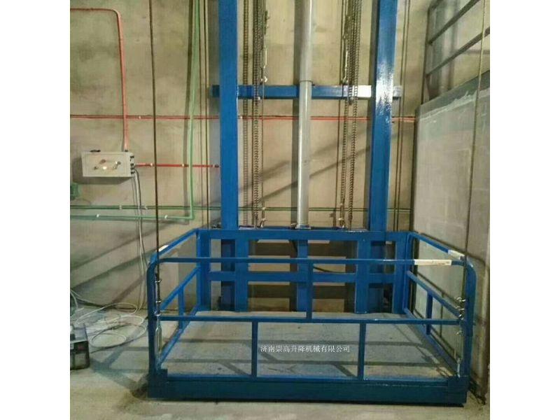 河间市导轨式升降机=载货升降货梯承载3000斤价格