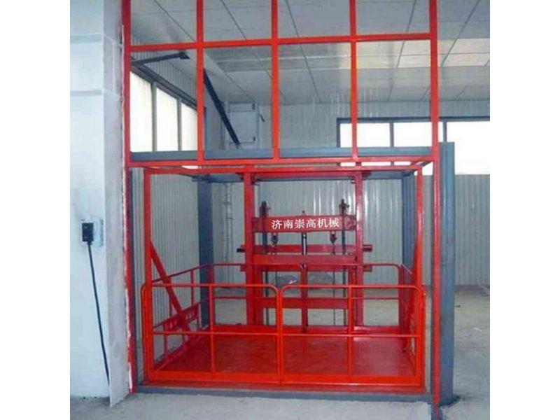 沙河市导轨式升降机=载货升降货梯台面1.5*1.6价格