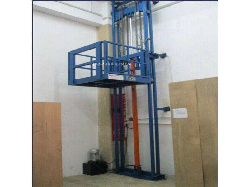 迁安市导轨式升降机=载货升降货梯1到2层5米价格