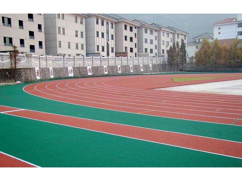 安次13mm环保塑胶跑道工程铺设-400米标准尺寸|划线,橡胶面层透气式