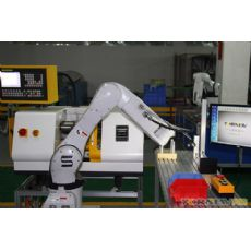 小型工業機器人上下料數控車床實訓系統