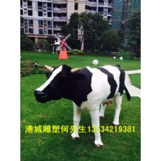玻璃鋼奶牛雕塑