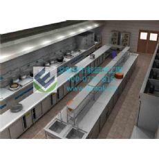 酒店开放式厨房设计_艾默柯厨房工程