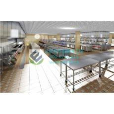 星级厨房设计_长沙艾默柯中央厨房工程