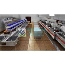 酒店中央厨房安装_艾默柯厨房工程