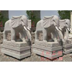 花崗巖獅子大象加工 大理石獅子大象圖片
